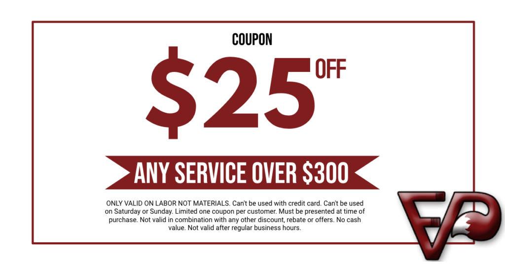 $25 off Fox Valley Plumbing
